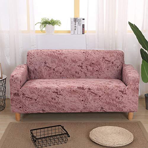 Volltonfarbe Sofabezug,Stretch Staub-Beweis Couch-Abdeckung Mode Möbel Protektor Sofa Slipcover Für 1 2 3 4 Kissen Couch-rosa Übergroßes Sofa