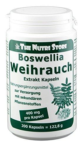 Boswellia-extrakt (Weihrauch Boswellia 400 mg Extrakt Kapseln 200 Stk.)