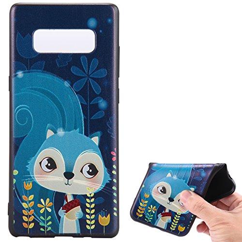 Hlle-fr-Samsung-Galaxy-Note-8Handyhlle-fr-Samsung-Galaxy-Note-8Ultra-Dnn-HandyhlleLeweiany-3D-Kreativ-Bunte-Malerei-Mond-Zahn-Painted-Matt-Prgung-Muster-Ultra-Dnn-Soft-TPU-Silikon-Gummi-Schutzhlle-Kra