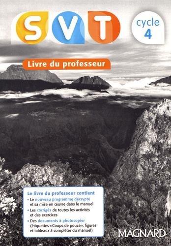 SVT cycle 4 : Livre du professeur