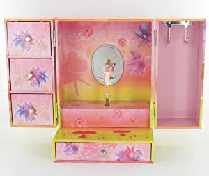 Enfants armoire musicale bijoux avec fées rose de conception