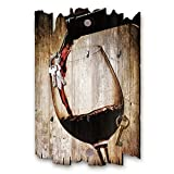 Kreative Feder Rotwein Designer Schlüsselbrett, Hakenleiste Landhaus Style, Shabby aus Holz 30x20cm, HSB091