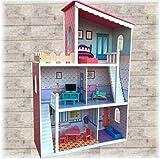 TikTakToo XXL Großes Puppenhaus aus Holz Dream Villa Barbiehaus Puppenhaus