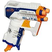 Nerf Triad Ex-3 Pistola de juguete - armas de juguete (Pistola de juguete, 8 año(s), Niño, Azul, Naranja, Blanco, N-Strike Elite, 27 m)