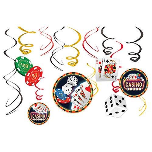 amscan Casino-Hängedekoration, 12 Stück