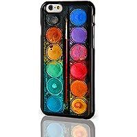 Artist Collection Phone Cases-Cover per Apple iPhone 8 cm. per pittura con acquerelli con tavolozza da colorare-Cover rigida per iPhone modelli dal iCaseDesigner, plastica, Paint Palette on a Black Background, iPhone 4 / 4S