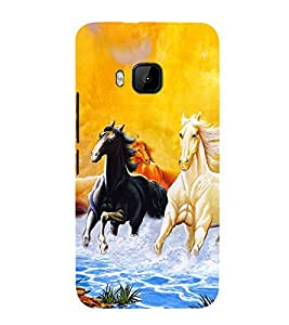 99Sublimation Horse Running in water 3D Hard Polycarbonate Back Case Cover for HTC One M9