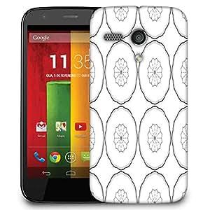 Snoogg Black Layered Circle Designer Protective Phone Back Case Cover For Motorola G / Moto G