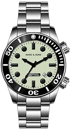 MARC & SONS 1000 Meter Professional Automatik Taucheruhr, Diver Watch – MSD-027