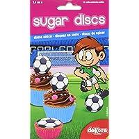 Dekora Fútbol Display 12 Mini Discos Azúcar - 33 gr
