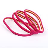 Neu: Haarschmuck Haargummi Sport Silikon Pink