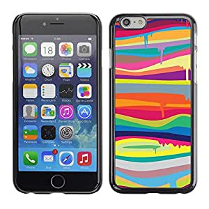 Omega Covers - Snap on Hard Back Case Cover Shell FOR Iphone 6/6S (4.7 INCH) - Colors Lines Abstract Colorful