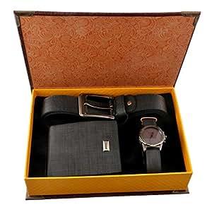 souarts ensemble coffret cadeau montre ceinture porte monnaie pour homme bleu marine. Black Bedroom Furniture Sets. Home Design Ideas