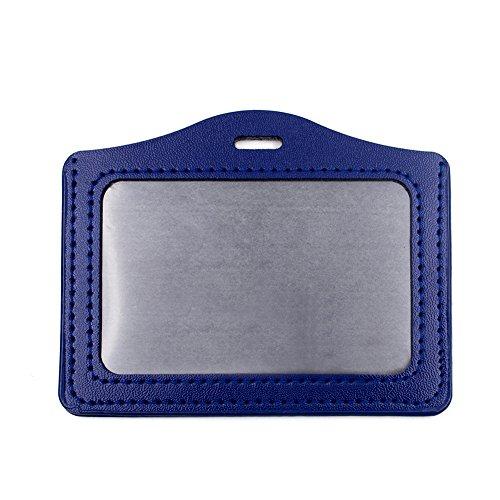 Gogo Vertikal Badge Holder, Horizontal PU-Leder Große mit Slot & Kette Löcher 40 Packs horizontal blue