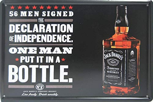 WallAdorn The Declaration of Independence Jack Daniel's Style Ornament Coffee Eisen Poster Malerei Blechschild Vintage Wanddekoration für Cafe Bar Pub Home - Daniels Lichter Jack