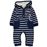 Bóboli Unisex Baby Spieler Fleece Play Suit Denim For, Mehrfarbig (Stripes 9554), 86