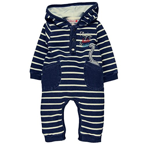 Bóboli Unisex Baby Spieler Fleece play suit denim for baby 124030, Gr. 62, Mehrfarbig (Str Preisvergleich