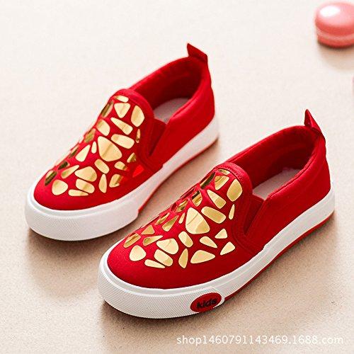 XTIAN , Baskets pour fille Rouge