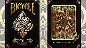 Bicycle Gold Deck by US Playing Cards, limitierte Auflage, Kartenspiel Bicycle Deck Pokerkarten