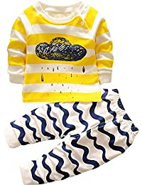 HENGSONG Clouds Impression Garçons Filles Coton Pyjama Bébé Four Seasons Sous-vêtements Ensembles Enfants