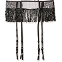 iCollection Women's Fringe Trimmed Mesh Garter-Skirt