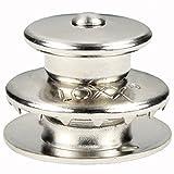 20 Stück LOXX® Oberteil Knopf Groß für Stoff bis 5 mm - Messing vernickelt Schnellverschluss