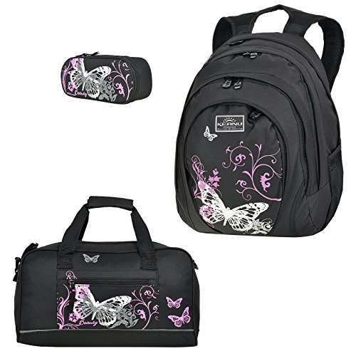 Fabrizio - Schulrucksack-Set - 3er Set (Black Beauty)