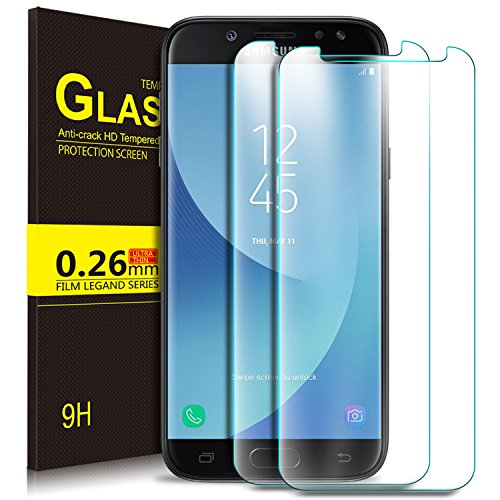 Samsung Galaxy J5 Pro 2018 Pellicola, KuGi Pellicola protettiva Pellicola protettiva [Anti-Riflesso & Anti-Bolla] [Durezza 9H] per Samsung Galaxy J5 Pro 2018 (2 Pezzi)