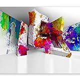 murando - Fototapete 3D Effekt 400x280 cm - Vlies Tapete - Moderne Wanddeko - Design Tapete - Wandtapete - Wand Dekoration - Abstrakt bunt Optik a-C-0099-a-a