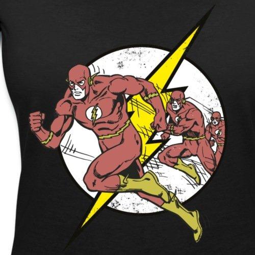 DC Comics Originals Flash Court Rétro T-shirt col V Femme de Spreadshirt® Noir