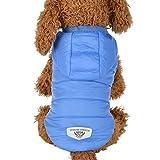 RETUROM Ropa para Mascotas Abrigo Grueso Invierno Acolchado Caliente Chaleco Ropa para Mascotas (Rosa, S)