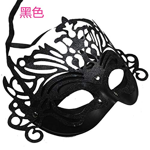 Kostüm Schwarzen Alle Weiblichen - JRKJ Kronprinzessin Maske Gruselige & Lustige Masken - Perfekt Für Karneval & Halloween - Erwachsenen Kostüm Unisex Für Alle All ClownMännliche Maske, Weibliche Maske @ Schwarz