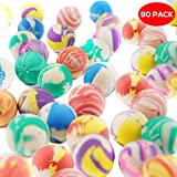 THE TWIDDLERS 90 Stück Flummis, Hüpfball Ball, Gummiball & Springball Set für Kinder - ideale Kindergeburtstag Spielzeug Give Aways, Mitbringsel & Mitgebsel