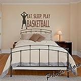 "Sala de vinilo para pared, diseño de jugador de baloncesto adhesivo para pared de baloncesto adhesivo para pared de baloncesto Niños Arte decoración, A, 27""hx46""w"