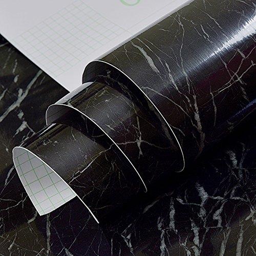 Möbelsticker Feifei Wallpaper Plus Thick Waterproof Anti-Öl Selbstklebende Marmor-Aufkleber...