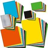 TATMOTIVE Bastelpapier Set bunt 8 Farben x 6 Formate je 5 Blatt = 240 Blatt, 120g farbiges Tonpapier für TATMOTIVE Bastelpapier Set bunt 8 Farben x 6 Formate je 5 Blatt = 240 Blatt, 120g farbiges Tonpapier