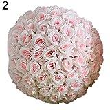 AchidistviQ 20,3 cm Hochzeit, künstliche Rose, Seidenblume zum Aufhängen, Dekoration Hellrosa