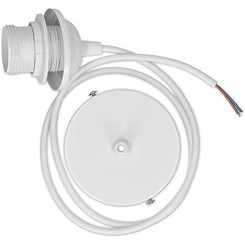 kwmobile Douille de lampe E27 - Douille avec bague de fixation plafond pour  suspension ampoule - 6aaeb2b77b0c