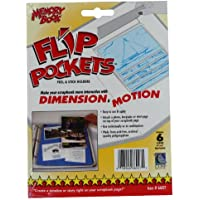 Flip Pockets Peel & Stick Holders 6/Pkg-Clear 4