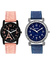 Relish Analogue Multi-Colour Round Dial Combo Watches For Girls & Women_Re-L001Com