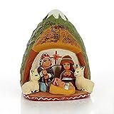 Krippe aus Ton - Mooshütte - Fair Trade (028)