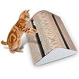 Katzen Kratzspielzeug, Chenci Katzenspielzeug Kratzmöbel Kratzmatte Kratzbaum Kratzbretter Kratzbrett aus Wellpappe handgefertigt, Ideal Beschäftigung Toys für Haustier Pet,Doppelseitig