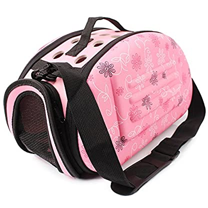 32*20*22cm EVA Foldable Carrying Bags For Small Dogs Singles Portable Breathable Outdoor Transport Pet Cat Puppy Dog… 1