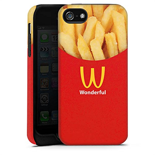 Apple iPhone X Silikon Hülle Case Schutzhülle Pommes Fast Food Frenchfries Tough Case matt