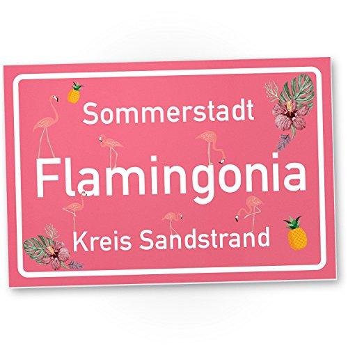 Flamingo Schild Flamingonia Kleines Persönliches Geschenk