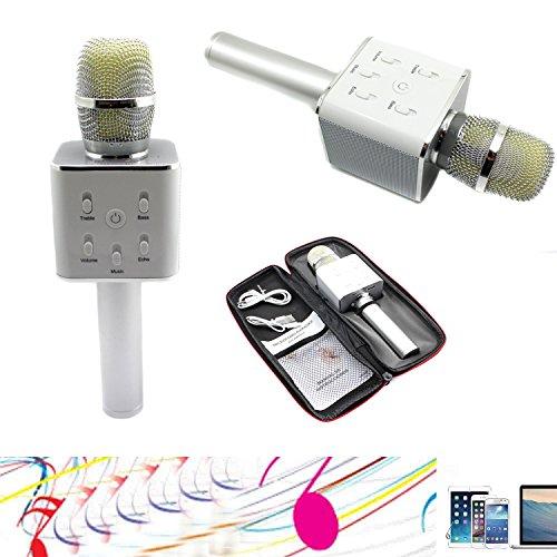 yocilo Bluetooth Speaker Karaoke Player Gold Mikrofon wireless Per Karaoke Player Karaoke Compatibile Per Il Telefono CELLULARE iPhone und Android oder PC mit USB