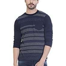 Vudu Men's Slim Fit Casual T-Shirt (TA0058-XL)