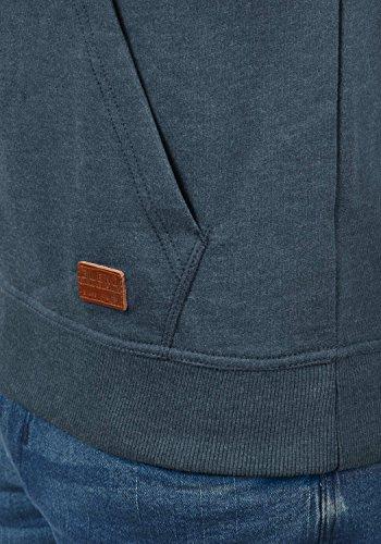 BLEND 703585ME Sales Herren Kapuzenpullover Hoodie Sweatshirt mit Kapuze und optionalem Teddy-Futter sowie Crossover-Kragen aus hochwertiger Baumwollmischung Meliert Ensign Blue (70260)