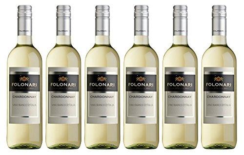 Folonari Chardonnay 2016/2017 trocken Wein (6 x 0.75 l)