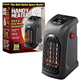 #4: Portable Heater, 400W Handy Heater Compact Plug-In Portable Digital Electric Heater Fan Wall-Outlet Handy Air Warmer Blower Adjustable Timer Digital Display for Home/Office/Camper